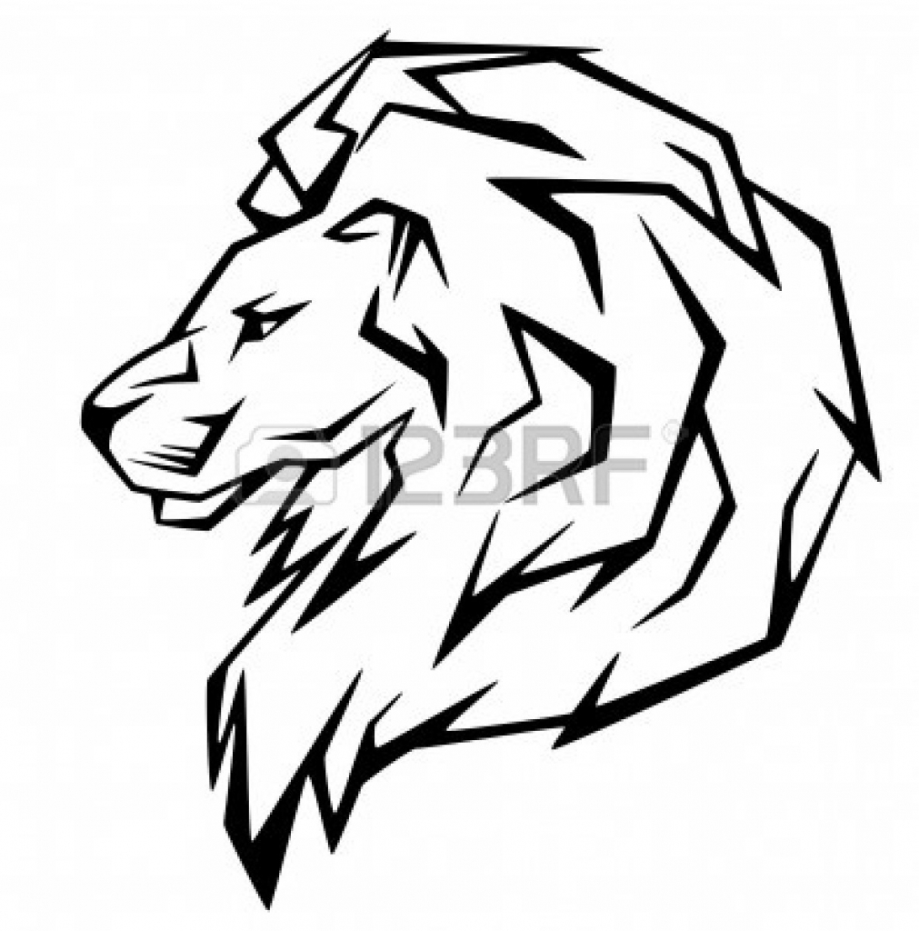 1011x1024 Drawing Of A Lion Face Easy Lion Face Drawings Lion Design Images