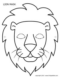 200x255 Construction Paper Lion Heads Inspired Class