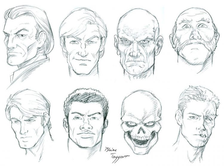 750x558 Drawing How Draw A Male Cartoon Facegether With How