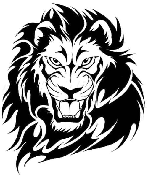 500x593 Tribal Lion Tattoos