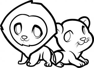 302x219 How To Draw How To Draw Lions For Kids
