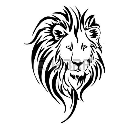 Lion Face Line Drawing