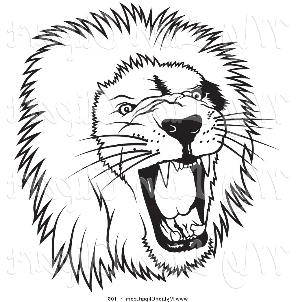 1024x1044 Black And White Lion Clip Art