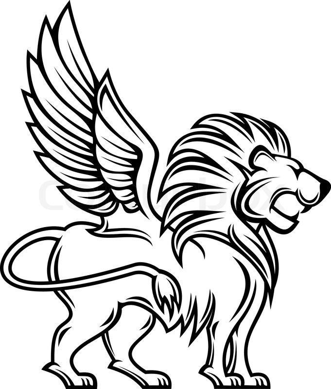 681x800 Drawn Eagle Lion