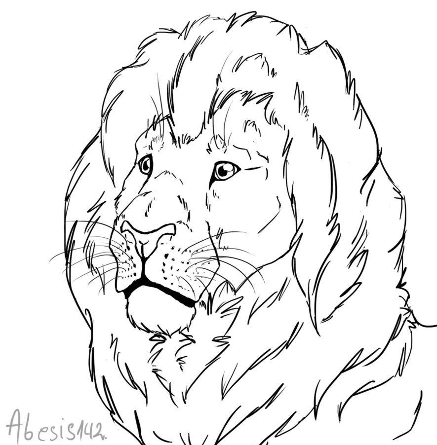 885x902 Free Lion Head Line Art By That Goose