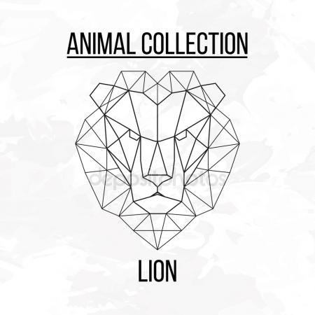 450x450 Geometric Lion Stock Vectors, Royalty Free Geometric Lion