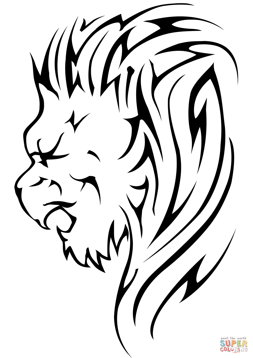 Lion Face Line Drawing at GetDrawings.com | Free for personal use ...
