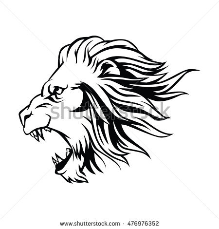 450x470 Pictures Lion Head Line Drawing,