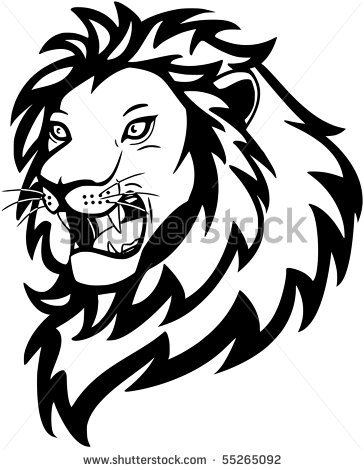 364x470 Roaring Lion Face Clipart