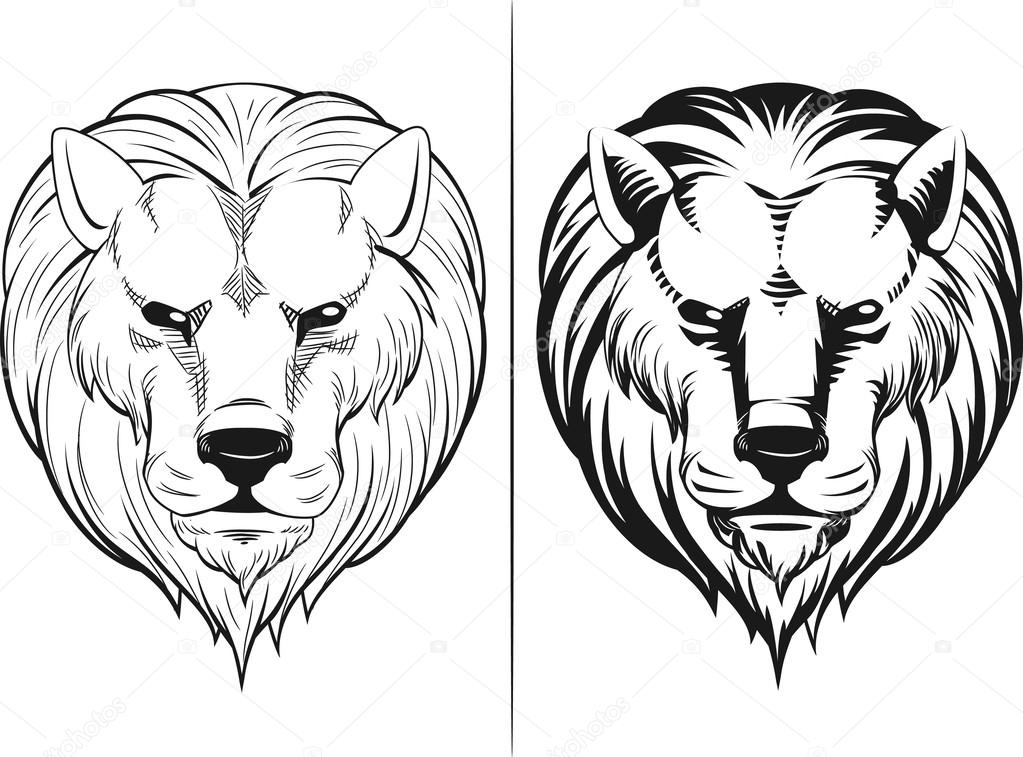1023x757 Sketch Of Lion Head Stock Vector Bluezace