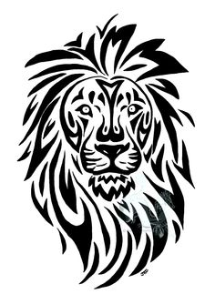 236x323 Lion Line Drawing Tattoovector