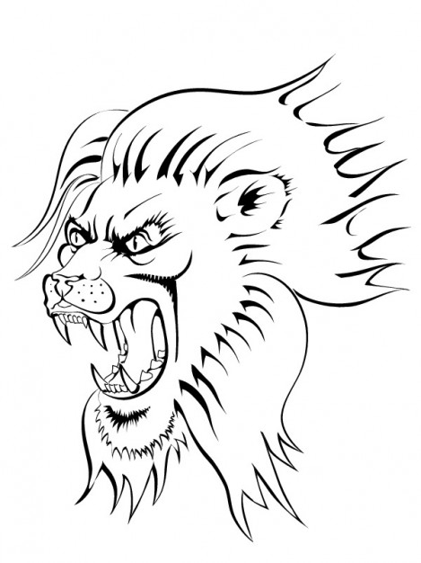 469x626 Angry Lion Face Image Vector Clip Art Vector Free Download