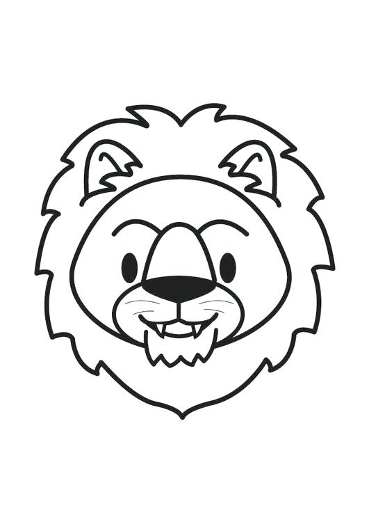 531x750 Lion Head Coloring Pages Of Lion Outline Drawing Lion Coloring