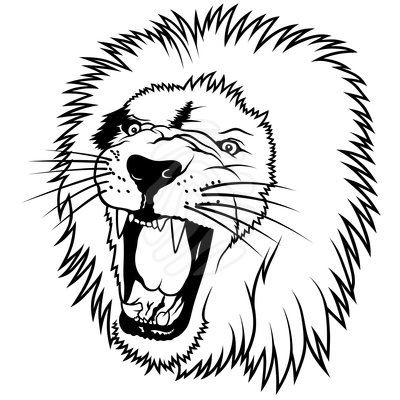 400x400 White Lion Clipart Lion Head