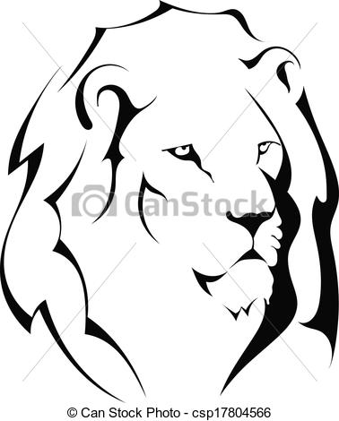 378x470 White Lion Clipart Vector