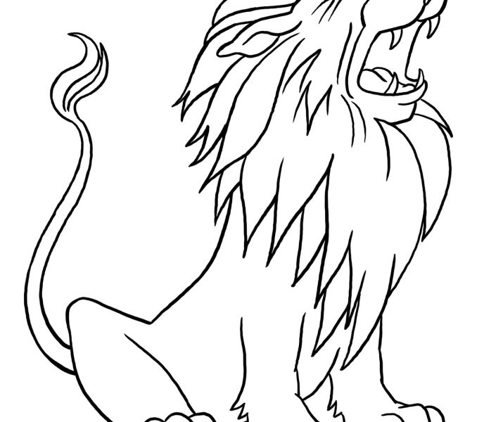 678x600 Great Lion Coloring Pictures 80 For Line Drawings With Lion