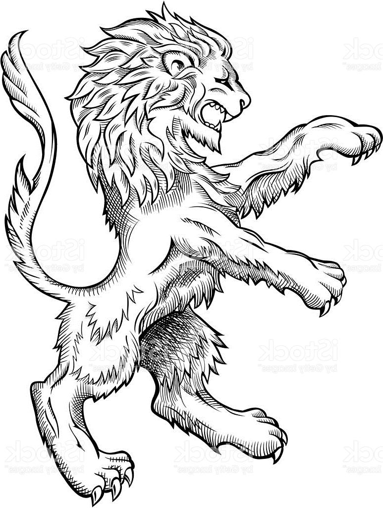 773x1024 Hd Medieval Lion Drawing Vector File Free