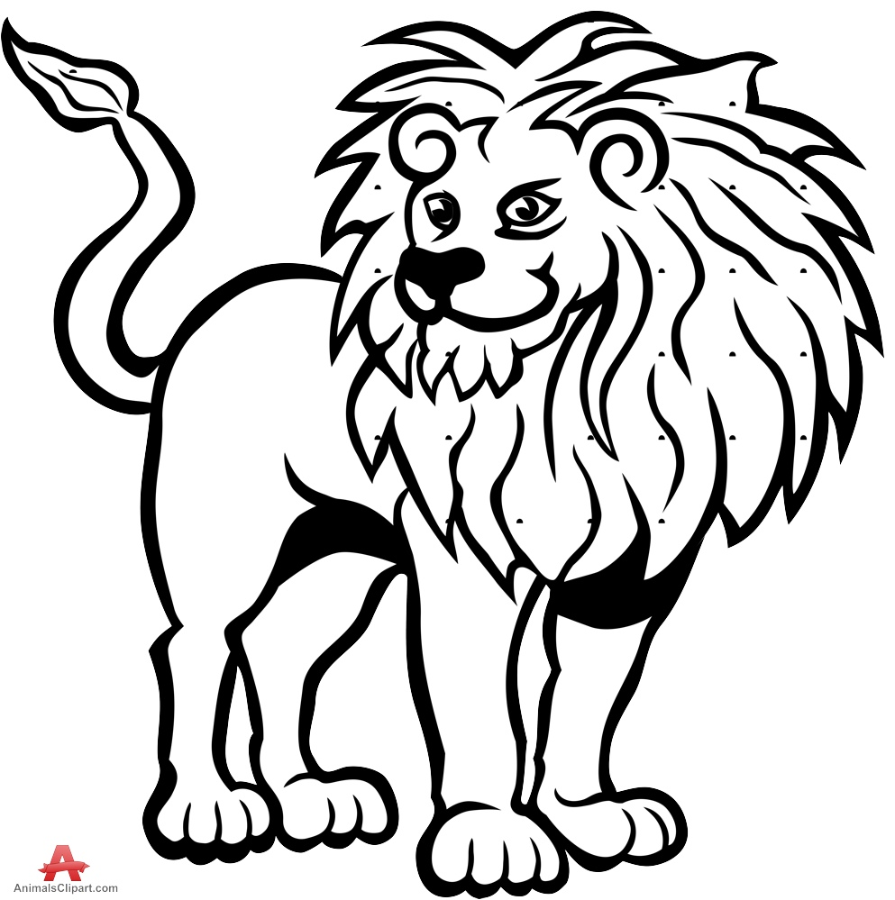 993x999 Lion Drawing Clipart