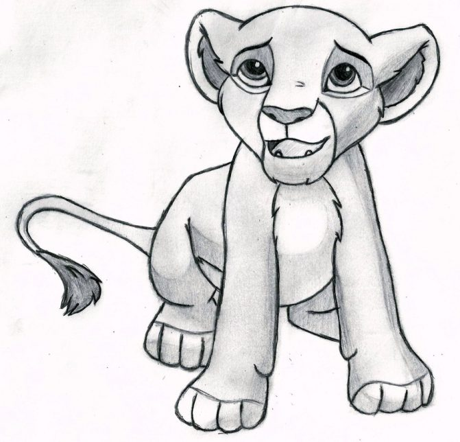 671x644 Simba Lion King Drawing Step By Step Tags The Lion King Drawing