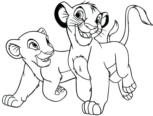 600x454 Coloring Pages Draw A Lion For Kids Affan