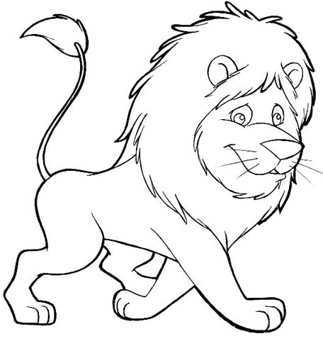 456x481 Free Animals Lion Printable Painting For Preschool Lion Coloring