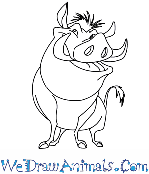 300x350 Coloring Pages Cool The Lion King Drawing Pumbaa From Thumb