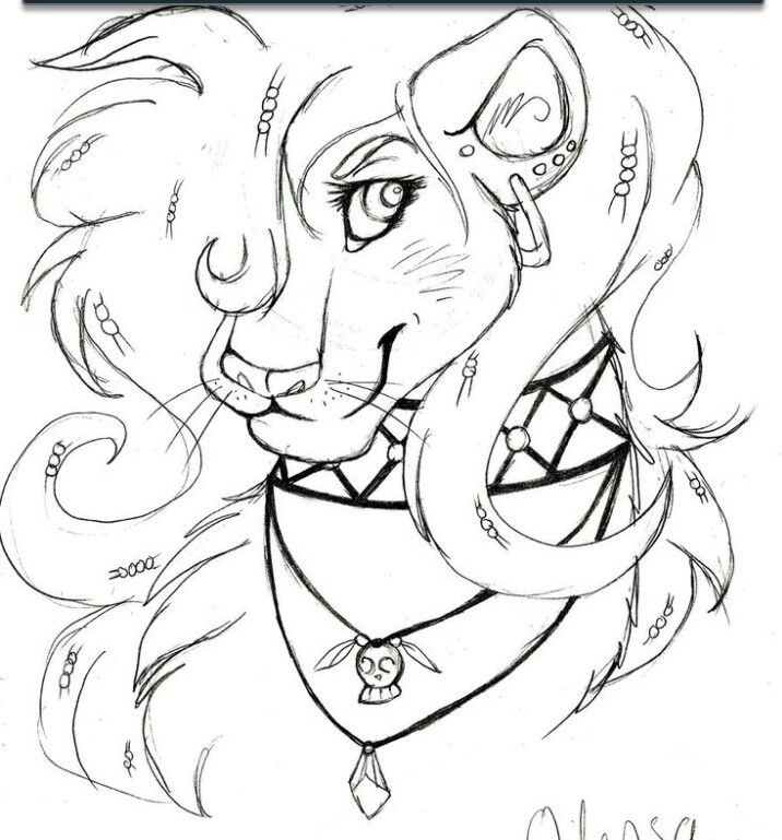Lion Girl Drawing