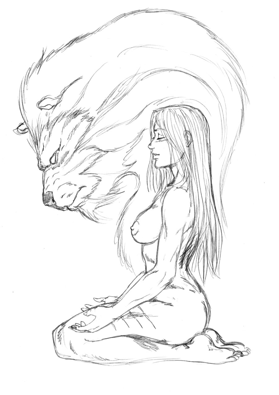 900x1274 Ayla And The Cave Lion Spirit By Jondalar137