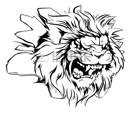 Lion Growling Drawing