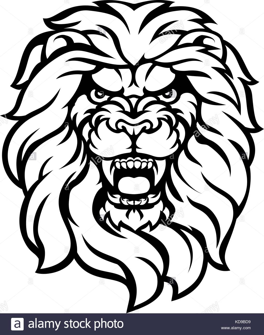 1095x1390 Lion Roaring Stock Vector Images
