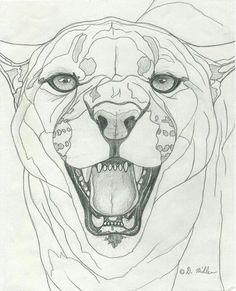236x291 Lion Drawing Ink Gtdrawing Lion Drawing, Lions