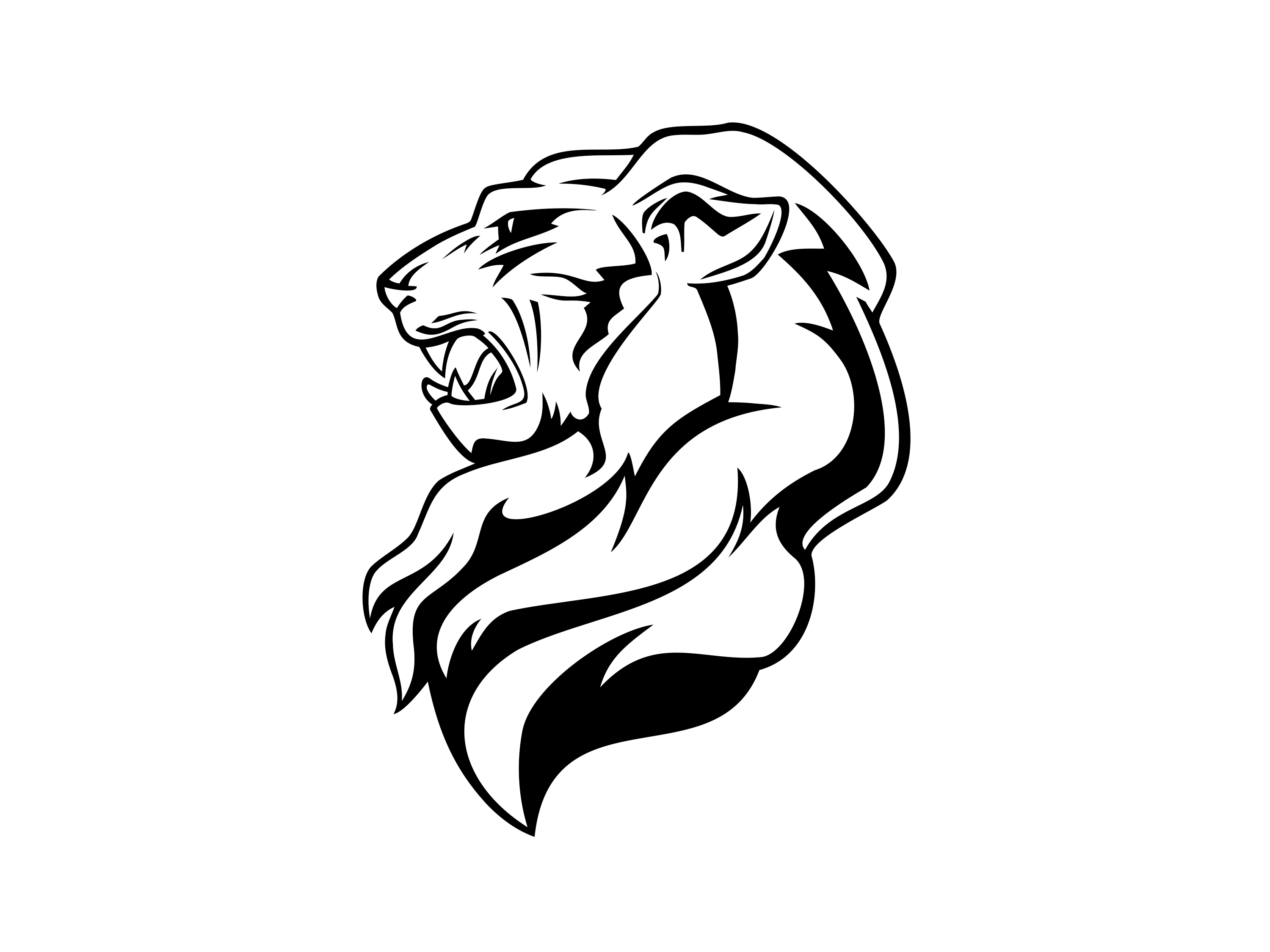 3000x2250 Free Lion Head Download Clipart