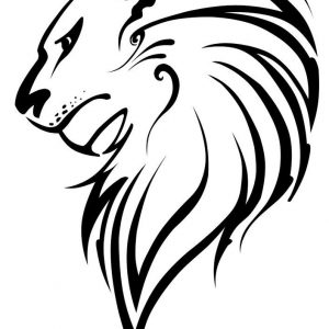 300x300 How To Draw A Tribal Lion Step By Art Pop Culture How Lion Adult