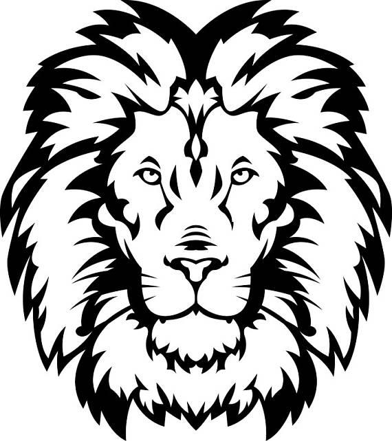 570x642 Lion 15 Head Wild Cat School Mascot Company Logo Svg Eps