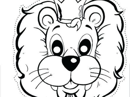 440x330 Lion Head Coloring Pages Plus Best Photos Of Lion Face Coloring
