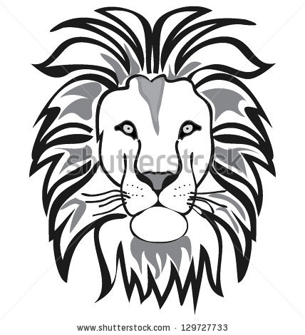 428x470 Photos Lion Face Drawing Outline,
