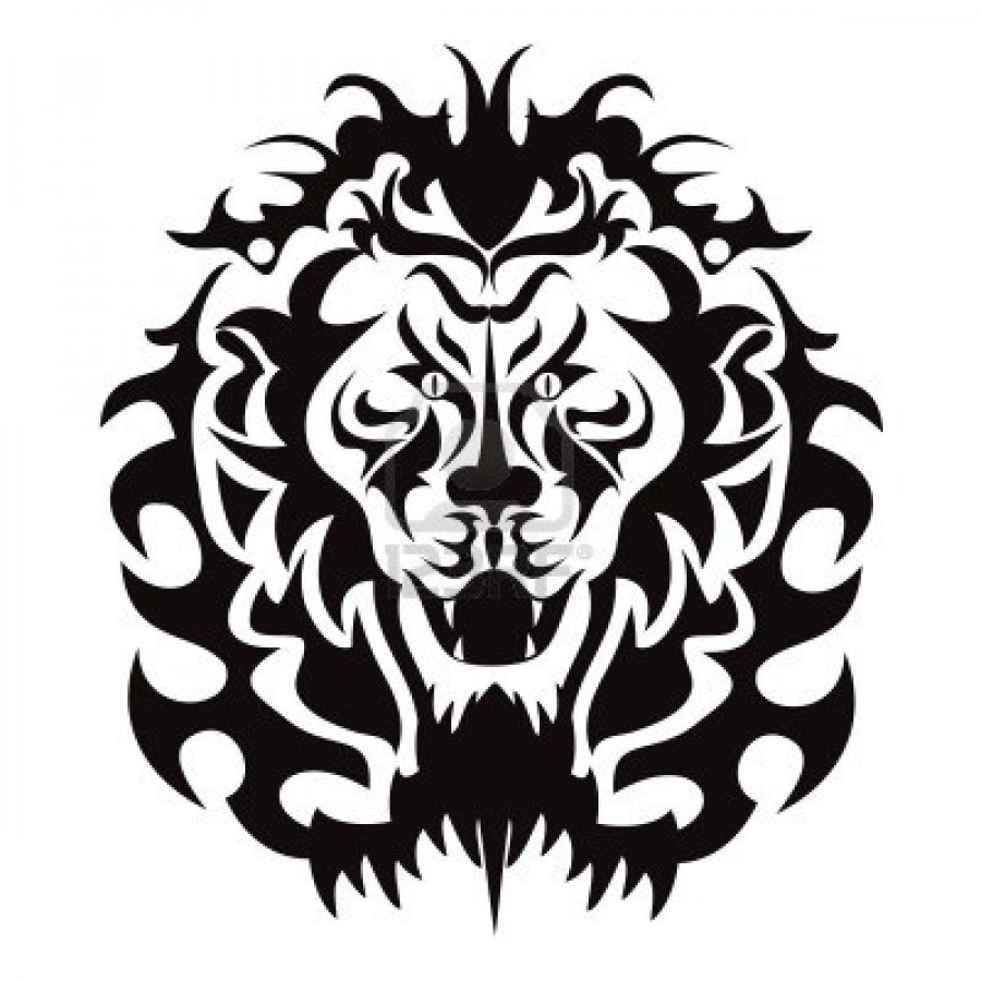 900x900 The Graphic Pattern Of Lion Head Tattoo