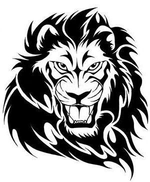 300x364 Lion Head Clipart