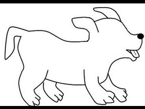 480x360 How To Draw A Simple Dog And Lion Head