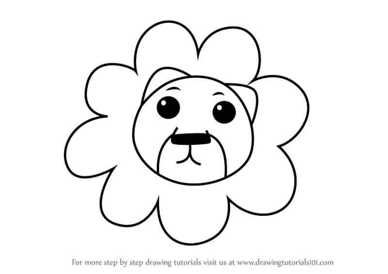 800x566 Learn How To Draw A Lion Face For Kids (Animal Faces For Kids