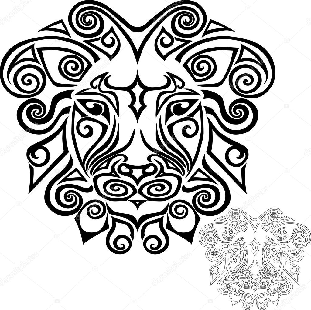 1024x1023 Hand Drawn Lion Head Stock Vector Nataliavarlamova