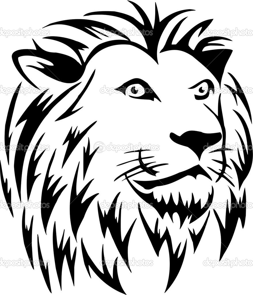 879x1024 14 Lion Line Drawing Vector Images