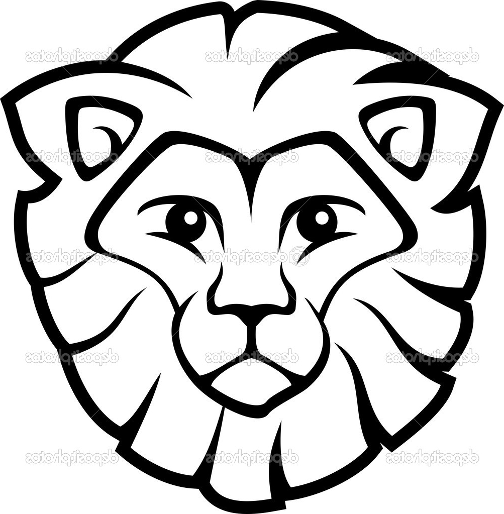 Line Drawing Lion Head : Lion head line drawing at getdrawings free for