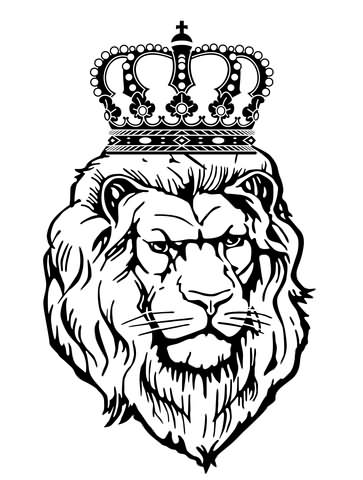 363x480 Lion Head With Crown Tattoo Design Lion With Crown Tattoo