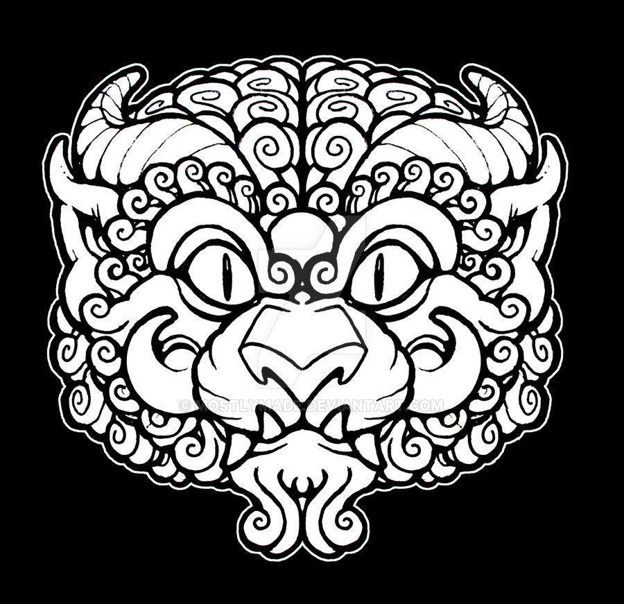900x871 Lion Head Sticker Design By Mostlymade