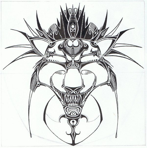 600x604 Lion Head