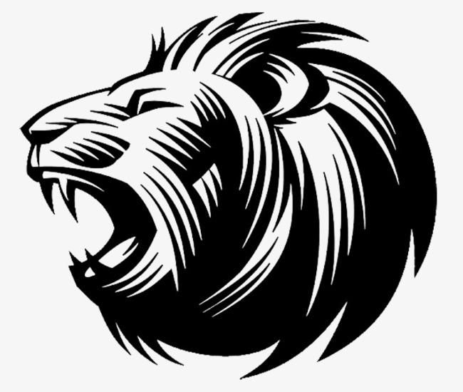 650x550 Lionhead Side Lines, Side, Black And White, Line Png Image