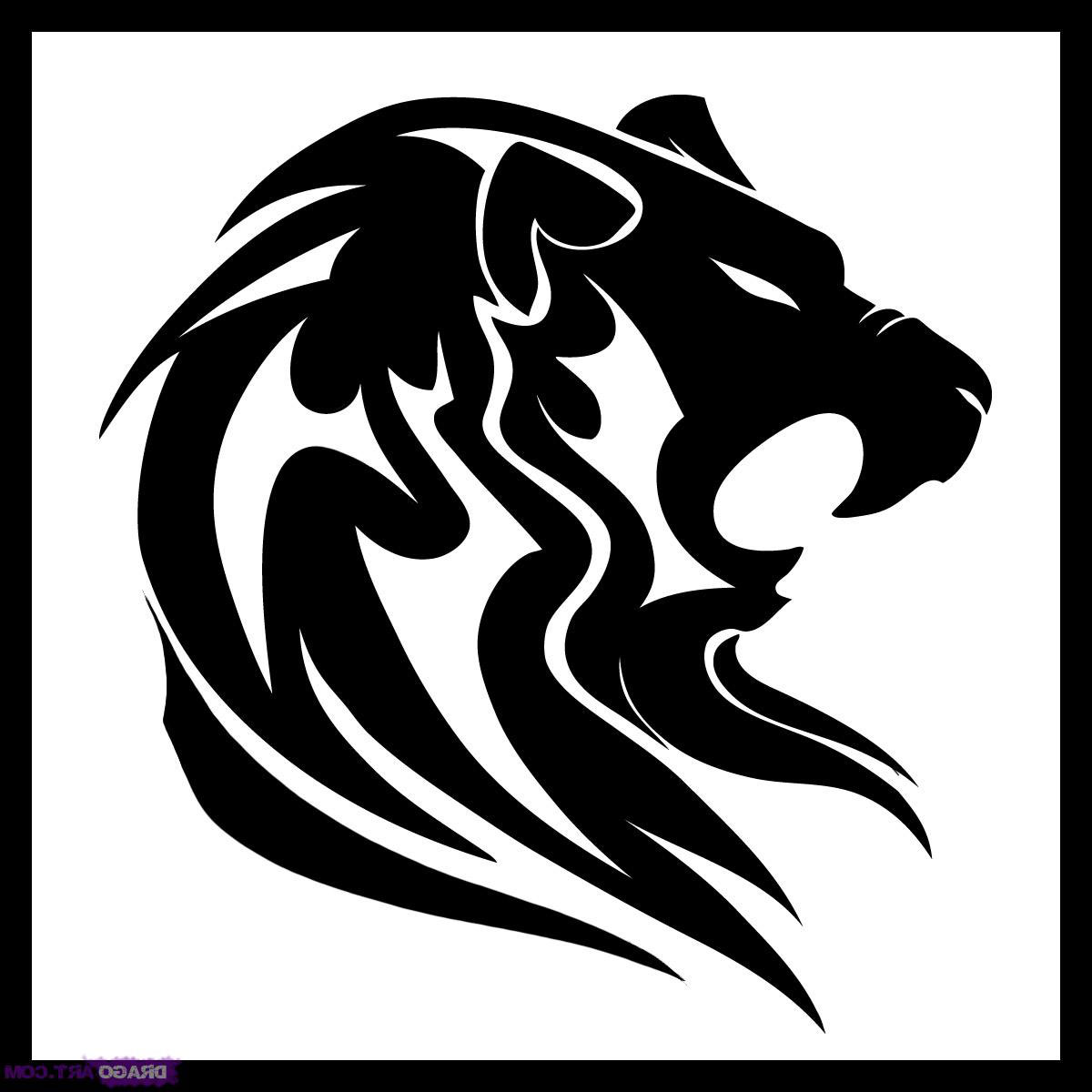 1200x1200 Collection Of Tribal Lion Face Tattoo On Biceps For Dudes