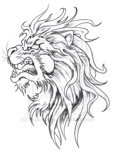 400x537 Lion's Head Tattoo By On @
