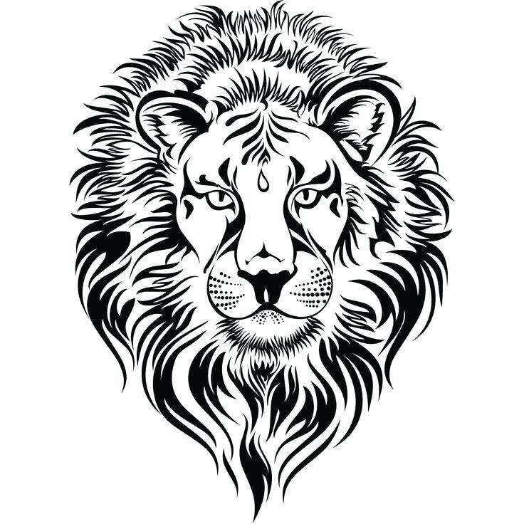 736x736 lion face coloring page lion head tattoo clip lion coloring page